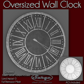 Oversized Wall Clock - Full Permission Mesh - Scripts Included!