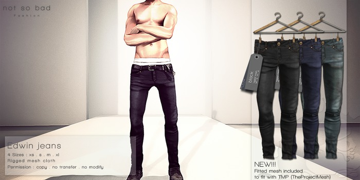 not so bad . mesh . EDWIN jeans . full pack 2 . 3 colors