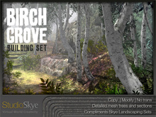Skye Birch Grove Building Set - 4 Season Trees 100% Mesh