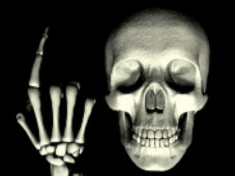 invitation of the animated skull