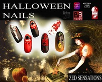 Zed Sensations*.Halloween nail varnish appliers EVE, slink, omega, kitties lair lena, Belleza