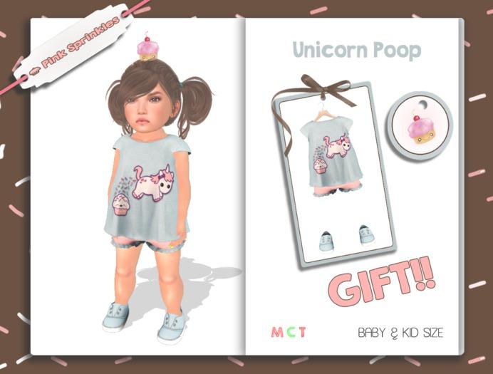 Pink Sprinkles - Shiloh Tee *Unicorn Poop*