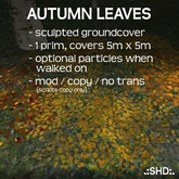 Autumn Leaves / Fall Leaves (Groundcover), Maple/Birch/Mixed, with optional particles