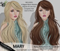 !Saltgrass! Mary Full Permission Rigged-Mesh Hair