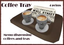 Coffee & Newspaper Tray - Menu Drinks