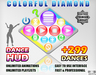 COLORFUL DIAMOND DANCE HUD +299 DANCES!