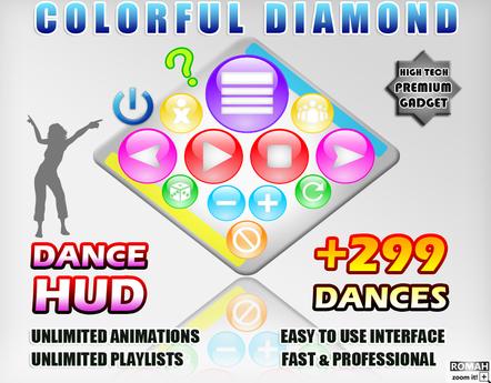 COLORFUL DIAMOND DANCE HUD +299 DANCES!