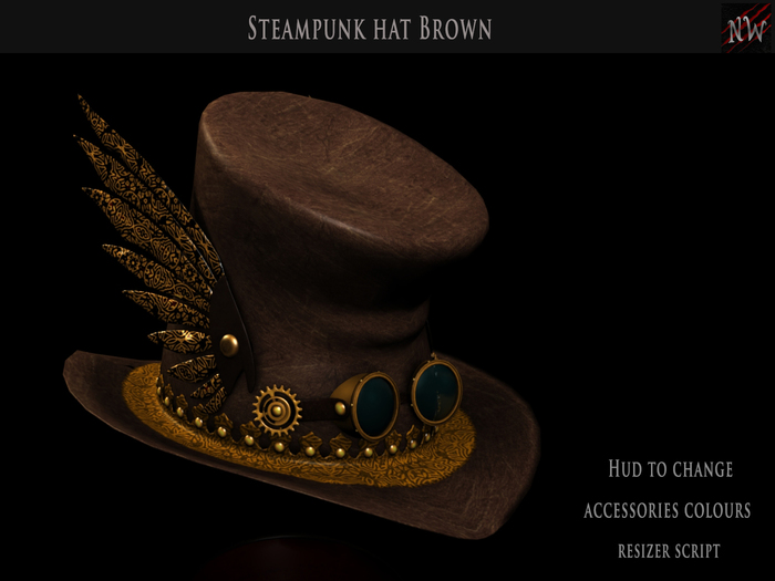 ! [NW] Brown Steampunk Hat