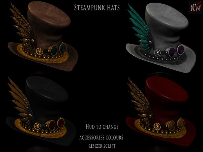 Fat Pack Steampunk Hat
