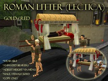 Roman Litter (Lectica) - Wearable - Animated - Gold/Red