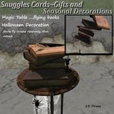 Magic Table ....flying books Halloween Decoration