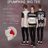 [Pumpkin] Big tee- Black/DEMO