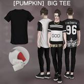 [Pumpkin] Big tee- Black