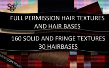 !Saltgrass! Full Permission Hair Textures & Hair Bases