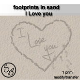 footprints in sand-I Love you