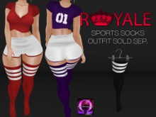 Royale] Thigh High Socks Black & White