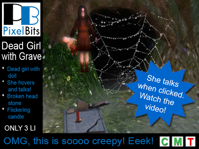 PB - Hovering dead girl with grave. Awesomely creepy!