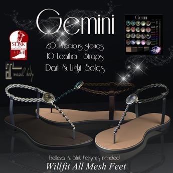 ClarityMoon~Gemini ~Sandals