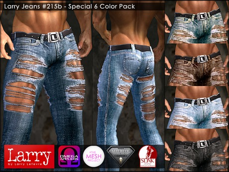 LARRY JEANS - Jeans 215b - SPECIAL 6 COLOR PACK