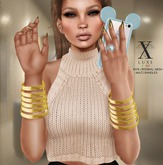 LUXE. Multi Bangles Gold