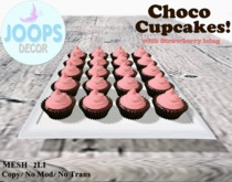 Joops. Cupcake Tray - Chocolate/Strawberry (boxed)