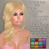 !SOUL - HAIR Mesh - Hyacinth - 12 Nuances -  Colors Set 1