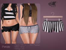 *MUKA* Petale - Black Stripes (Maitreya/Belleza/Slink)