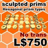 Sculpted prims Hexagonal prim types