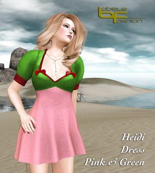 Babele Fashion :: Heidi Dress Pink and Green