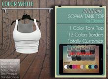 Addams // Sophia Tank Top // White