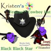 Kristen's @ - Fennux Cowboy Hat - Black Black Star