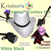 Kristen's @ - Fennux Cowboy Hat - White Black