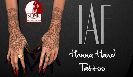IAF Henna Hand Tattoo (With Appliers)