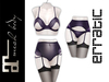 erratic / delice - lingerie / purple SET (maitreya)