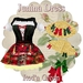 MONOMANIA - Junina Dress - Red'n Green