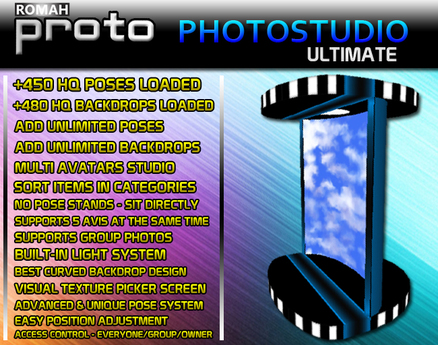 proto Photo Studio ULTIMATE : +480 Backdrops. +450 Poses. Multi-Avatars