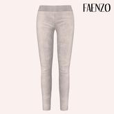 Faenzo Suede Leggings - White