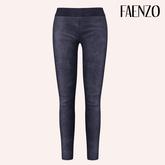 Faenzo Suede Leggings - Cobalt