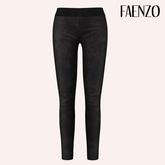 Faenzo Suede Leggings - Onyx