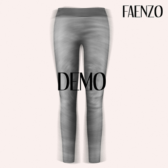 Faenzo Suede Leggings - Onyx Demo