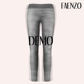 Faenzo Suede Leggings - Onyx Demo