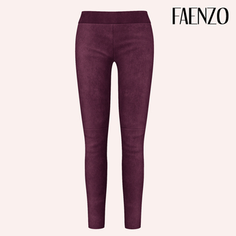 Faenzo Suede Leggings - Plum