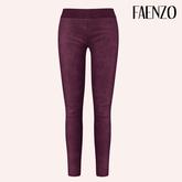 Faenzo Suede Leggings - Plum