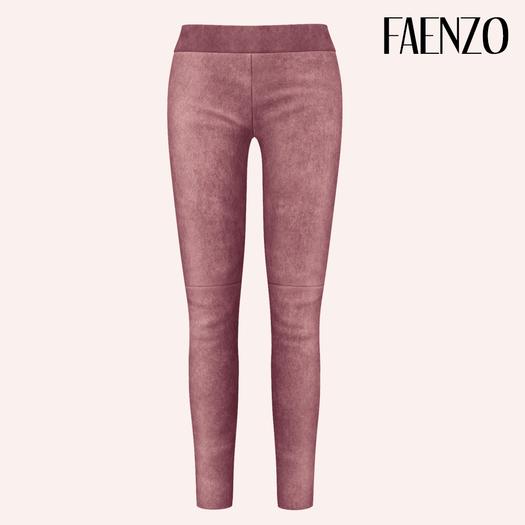 Faenzo Suede Leggings - Rose