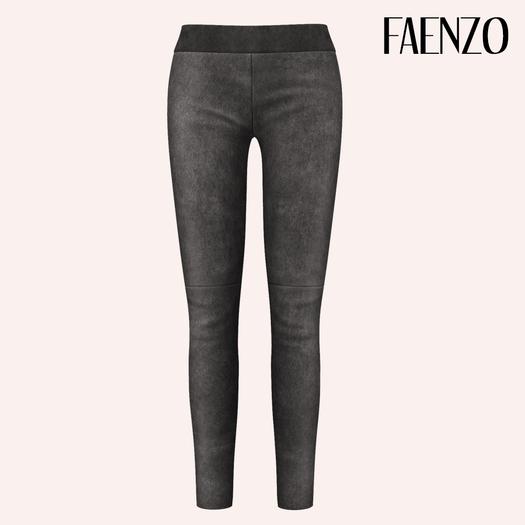 Faenzo Suede Leggings - Slate