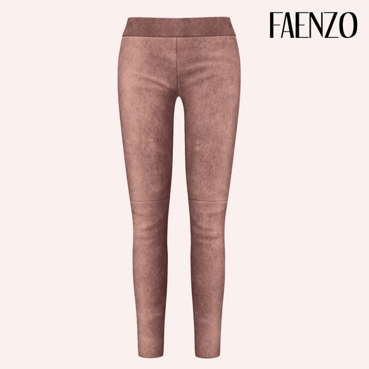 Faenzo Suede Leggings - Taupe