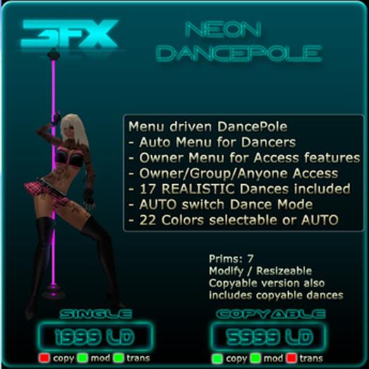 3 FX - Neon DancePole (Single)