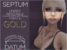 { DATUM } Gold Septum ♀ ♂
