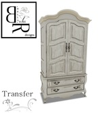 [BR] Ivory / Pink Vintage Armoire