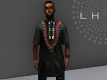 L&H :: Mandela Tunic Black  ::  Mesh